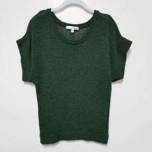 3/$15 WD.NY Green Short Sleeves Sweater Medium